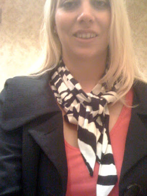 Express zebra scarf @ Brittany's Cleverly Titled Blog