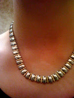 Silver and Gold necklace @ Brittany's Cleverly Titled Blog