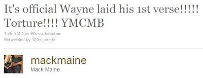 Mack Maine confirma que Weezy voltou para o estudio