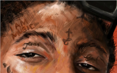 Pintura do rosto do Lil Wayne