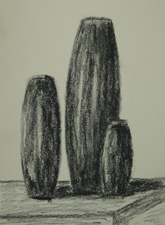 original charcoal sketch on paper by American artist Atul Pande