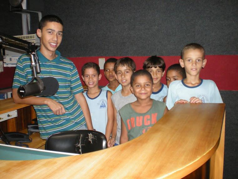 Fotos da visita à Rádio