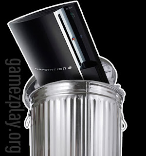 playstation 3 in bin