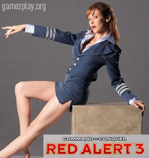 Red Alert 3 sexy girl in mini skirt