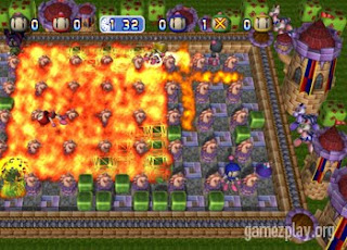 bomberman live video game blast screen