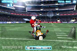Backbreaker Football Tackle Alley football players