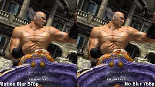 screenshot showing motion blur effect on tekken character