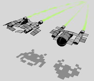 space invaders in 3D