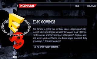 konami e3 website screenshot