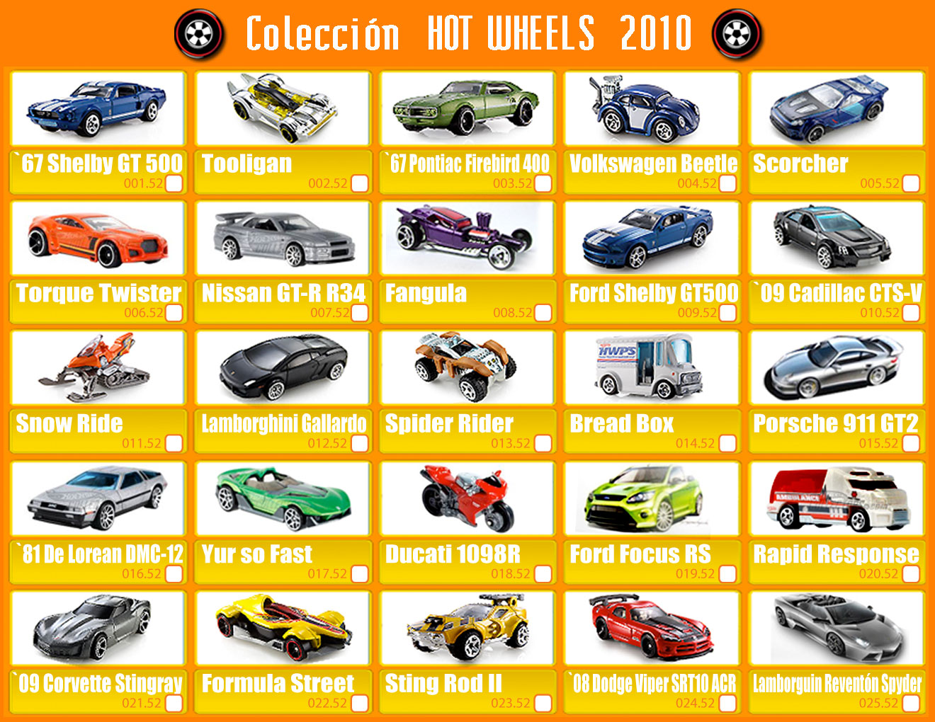 Coleccion Hot Wheels Venezuela