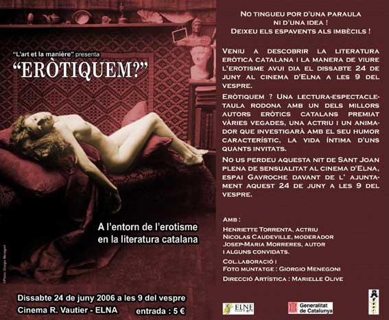 """Creació """"Eròtiquem"""" juny 2006. Elna"""