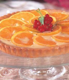 اصنعى تارت كاسترد البرتقال بالتوت