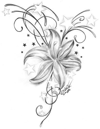 Hawaiian Flowers Clip Art Black And White. art inspired tattoos flower