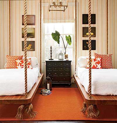 Surpreendemos ao desejar um sono reparador ao embalar destes baloiços originais no seu quarto...