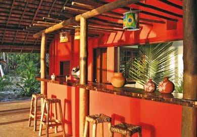 O bar no jardim