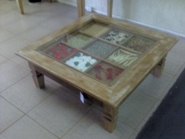 A mesa de centro