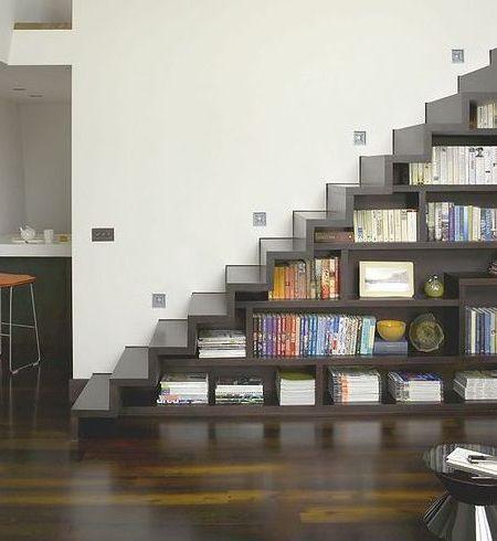 A Escada/Estante para os seus livros.