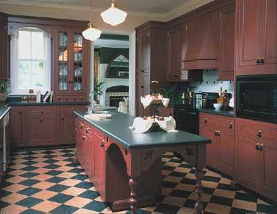 A Cozinha com mármore preto.