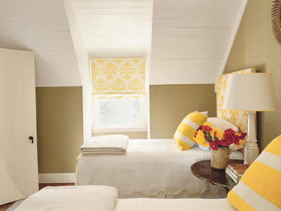 (Yellow and White Guest Bedroom)