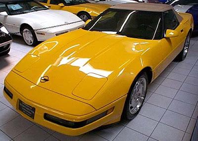 1995 Chevrolet Corvette Yellow