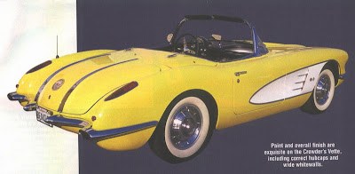 1958 Chevy Corvette Yellow