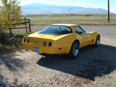 1981 Yellow Chevrolet Corvette