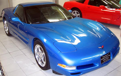 2000 Nassau Blue Corvette Coupe Image