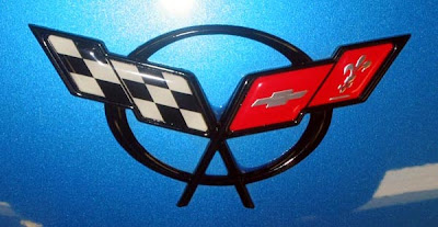 2000 Nassau Blue Corvette Coupe Emblem