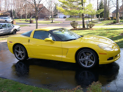 Yellow Chevrolet Corvette 2006 Coupe