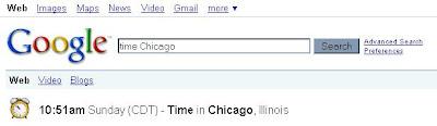 як шукати час в Google - Chicago