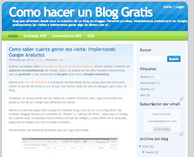 Añadiendo un gadget en blogger