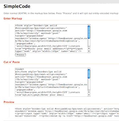 Insertando codigo fuente en tu Blog