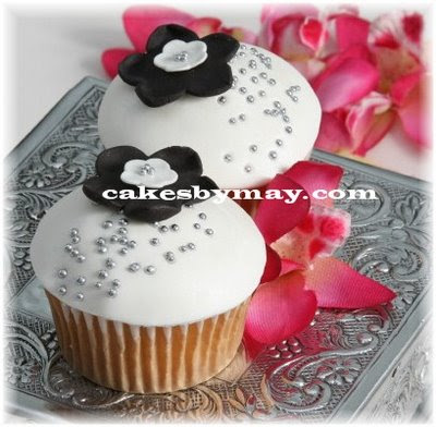 White Cupcake Wedding Cakes