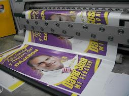 Imprimiendo la Campaña de la Navidad 2009, David Sosa