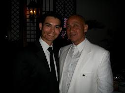 El famoso y cotizado actor dominicano radicado en los Angeles Juan Fernández y Camilo Then.