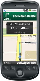 Beispiel Handy Navigation Google Maps