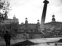 Montjuïc columnas caen