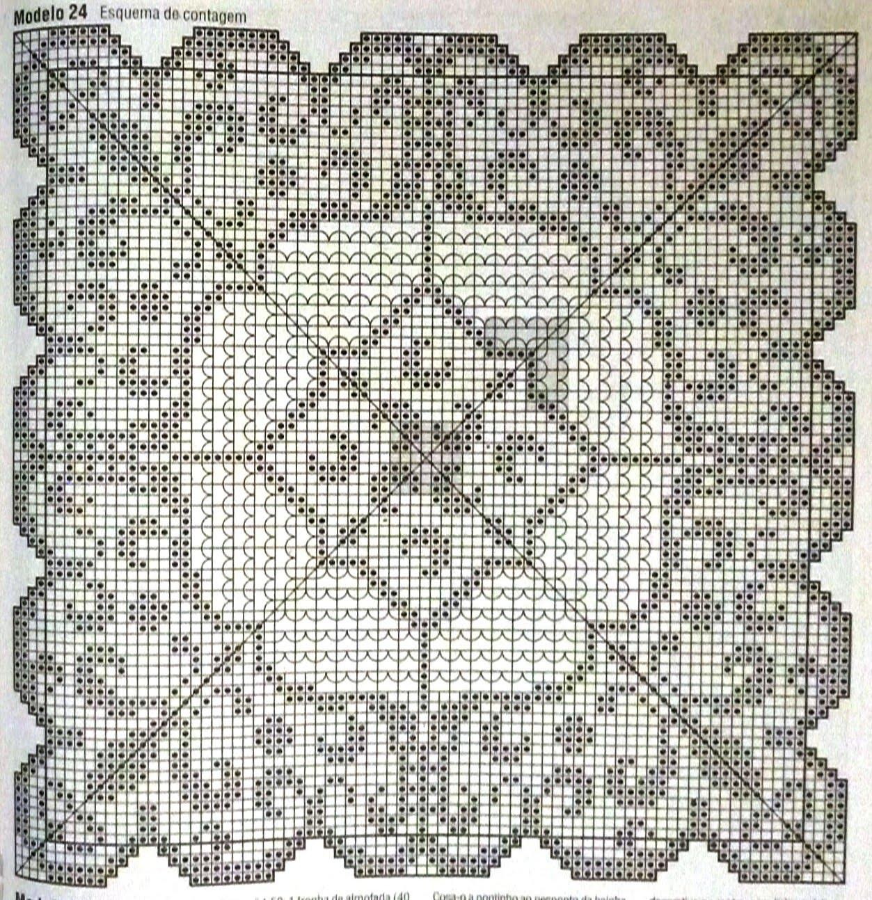 Филейное вязание крючком покрывала скатерти