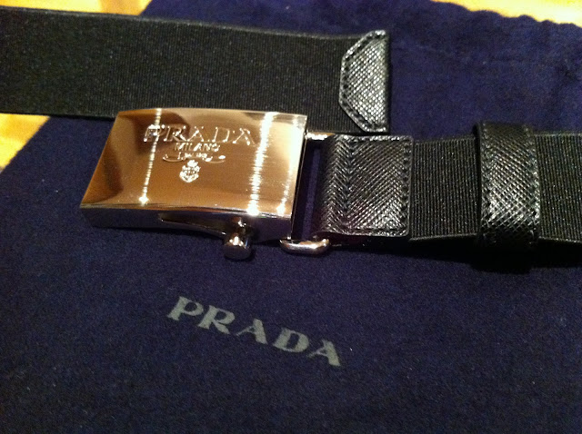 Prada men's belt