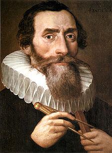 Portrait of Johannes Kepler from 1610