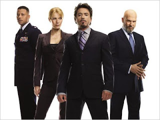 Iron Man cast: Terrence Howard,Gwyneth Paltrow, Robert Downey Jr. e Jeff Bridges