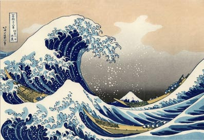 imagem: A Grande Onda de Kanagawa, tela de Katsushika Hokusai