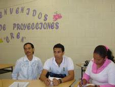 Alirio, Andrés y Genoveva