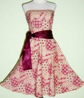 elegant batik wedding dress