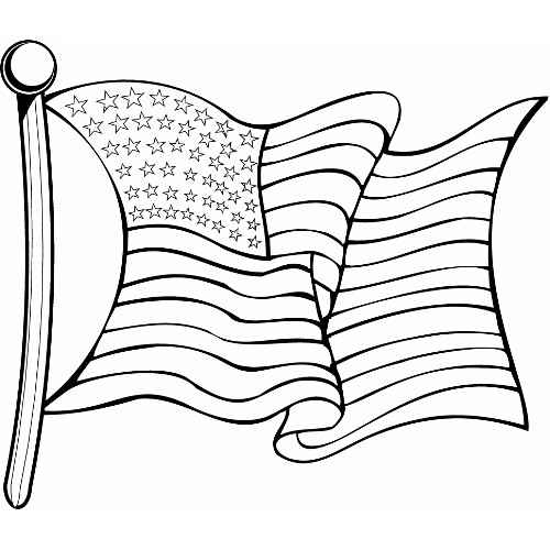 how to draw a flag waving in the wind