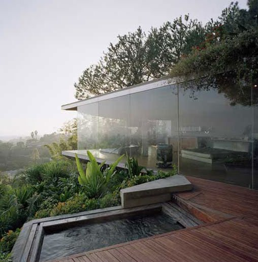 Glass Wall Home in the Hollywood Hills