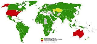 países firmantes del protocolo de Kyoto
