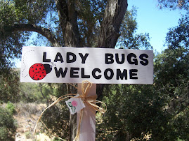 Lady Bugs Welcome Yard Stake