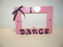 Pretty Pink I Love Dance Frame