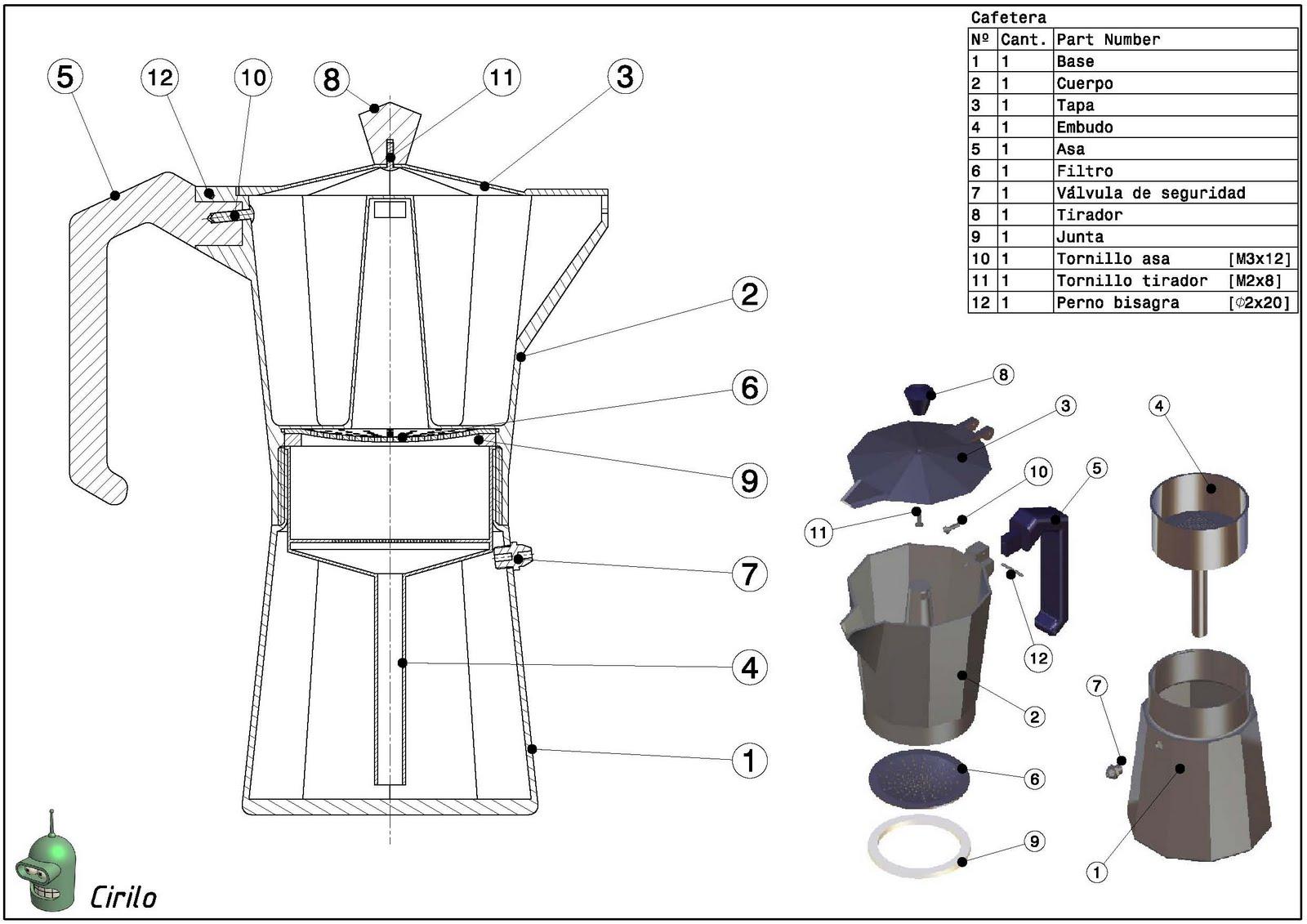 Planos con ciri cafetera for Planos silla ergonomica pdf